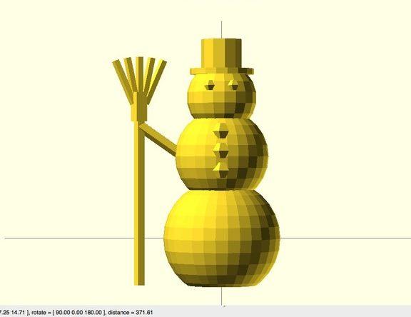 OpenSCAD sneeuwpop