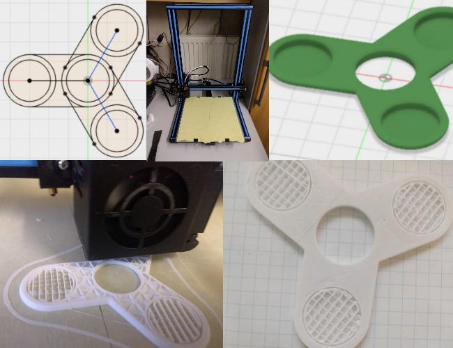Ontwerp en 3D print je eigen fidget spinner!